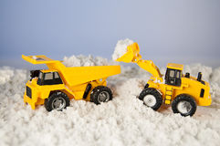 Snow removal machines Royalty Free Stock Images