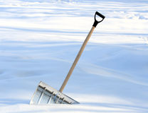 Snow removal shovel Royalty Free Stock Photo