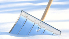 Snow removal shovel Stock Photo