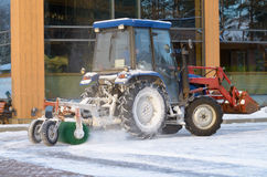 Snow removal tractor. Stock Photo