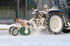 Snow removal tractor. Stock Image