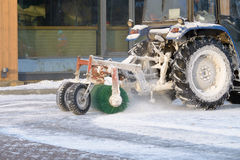 Snow removal tractor. Royalty Free Stock Photo