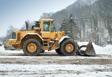 Snow removal vehicle Royalty Free Stock Photos