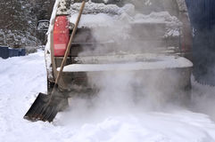 Snow Removal And Vehicle royalty free stock photography