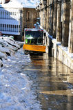 Snow removal wehicle on the street, Spain Royalty Free Stock Images