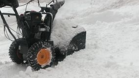 Snow-removal work with a snow blower