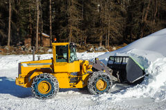 Snow removing Royalty Free Stock Photo