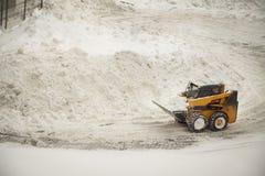 Snow removing bulldozer Royalty Free Stock Photo