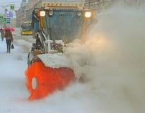 The snow-removing machine Stock Photo
