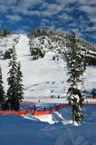 Snow Resort. Ski runs at Cypress Mountain Vancouver, site of the 2010 Olympics Stock Image