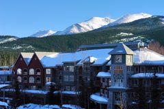Snow Resort. A Resort in Canada at winter time Royalty Free Stock Photography