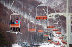 Snow Resort - gondola lifter Stock Image