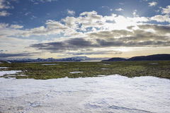 Snow rests on Iceland Royalty Free Stock Photo