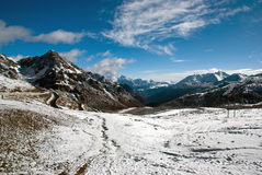 The snow ridge Royalty Free Stock Photography