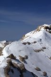 Snow ridge and footpath to the top Royalty Free Stock Photo