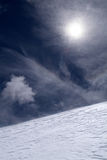 Snow Ridge On Mountain Top Stock Photography