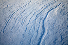 Snow ridges Royalty Free Stock Image