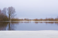 Snow river Royalty Free Stock Photography