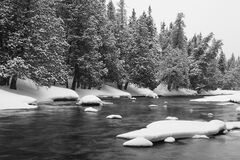 Snow river Royalty Free Stock Image