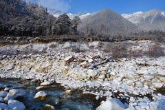 Snow river in Niubei mountain Royalty Free Stock Photo