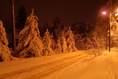 Snow road Royalty Free Stock Photography