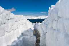 Snow road Royalty Free Stock Image
