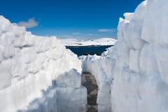 Snow road Royalty Free Stock Photo
