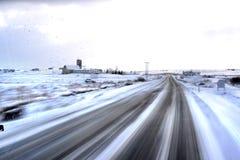 Snow road Stock Image