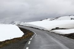 Snow Road, Norway Royalty Free Stock Photography