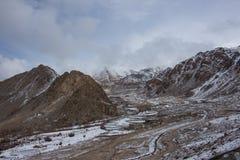 Snow road to the house. Snow road to the houses Stock Image
