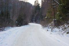 Snow road Royalty Free Stock Photos