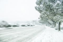 Snow roads royalty free stock image