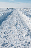 Snow roads after a storm Stock Photography