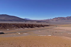 Snow and rocks in the Atacama desert. Chile Stock Photography