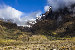 Snow and rocks El Altar volcano Sangay National Park Royalty Free Stock Photo