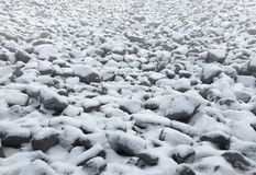 Snow On Rocks Landscape Stock Photos