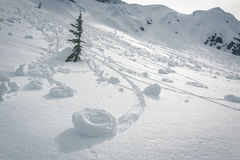 Snow rollers rare phenomena royalty free stock photo