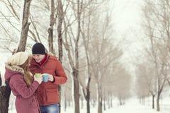 Snow romance Stock Photos