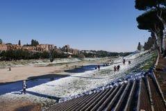 Snow in Rome Stock Photo