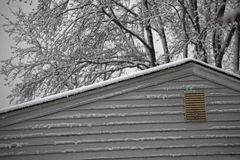 Snow on the Roof Royalty Free Stock Photos