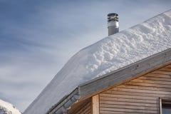 Snow_roof fotografia de stock royalty free
