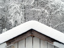 Snow on roof Stock Photos
