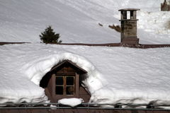 Snow on the roof Stock Image