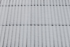 Snow on roof as background Royalty Free Stock Photography