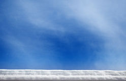Snow roof edge with copy space Stock Photos