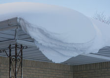 Snow on a Roof Royalty Free Stock Image