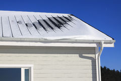 Snow on the roof Royalty Free Stock Image