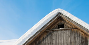 Snow on the roof. The sky Royalty Free Stock Photography