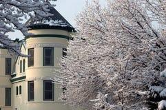Snow rooftops of washington royalty free stock image