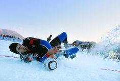 SNOW RUGBY INTERNATIONAL TARVISIO Royalty Free Stock Photography